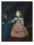 Infanta Margarita Teresa in a Pink Gown Plakat av Diego Velazquez