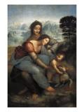 Virgin and Child with St Posters tekijänä  Leonardo da Vinci