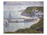 Harbour at Port-En-Bessin at High Tide Art by Georges Seurat