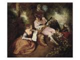 The Scale of Love Plakater af Jean Antoine Watteau