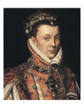 Elizabeth of Valois Plakater av Alonso Sanchez Coello