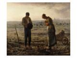 The Angelus (L'Angélus) ポスター : ジャン=フランソワ・ミレー