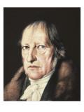 Portrait of Georg Wilhelm Friedrich Hegel Print by Jacob Schlesinger
