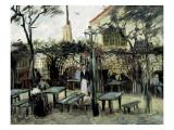 """Terrace of the Café """"La Guinguuette"""" Kunstdrucke von Vincent van Gogh"""