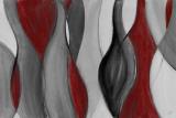 Coalescence (red, gray, black) Affischer av Lanie Loreth