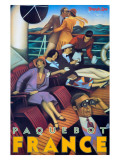 Paquebot France Giclee Print
