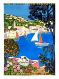 Der Sommer an der Cote d'Azur Giclée-Druck