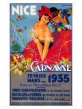 Nice Carnaval, c.1935 Giclée-tryk