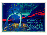 Exposition d'Electricite Marseille Giclee Print