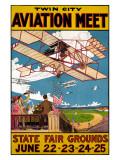 Twin City Aviation Meet Giclée-tryk