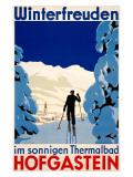 Winterfreuden Impressão giclée