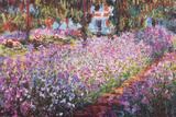 Monets Garten in Giverny Poster von Claude Monet