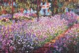 モネ家の庭、アイリス ポスター : クロード・モネ