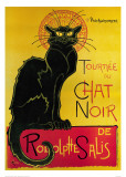 黒猫(ルドルフ・サリの黒猫の巡業) ポスター : テオフィル・アレクサンドル・スタンラン