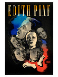 Edith Piaf Giclée-Druck