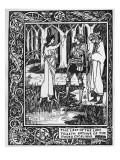 The Lady of the Lake Telleth Arthur of the Sword Excalibur, Illustration from 'Le Morte D'Arthur' Giclée-vedos tekijänä Aubrey Beardsley