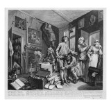 The Young Heir Takes Possession of the Miser's Effects, Plate I from 'A Rake's Progress', 1735 Giclee Print by William Hogarth