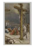 The Confession of Saint Longinus, Illustration from 'The Life of Our Lord Jesus Christ', 1886-94 Giclée-vedos tekijänä James Tissot