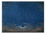 The Palace of the Queen of the Night, Set Design for 'The Magic Flute' by Wolfgang Amadeus Mozart Giclée-vedos tekijänä  Schinkel