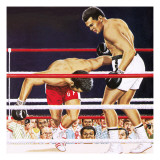 Muhammad Ali Regaining His Crown in the Fight Against George Foreman in 1974 Giclee Print by John Keay