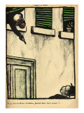 A Bourgeois Fires from His Window on a Passerby, from 'Crimes and Punishments' Giclée-Druck von Félix Vallotton