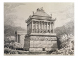 The Mausoleum of Halicarnassus, from a Series of the 'seven Wonders of the Ancient World'. 1886 Giclee Print by Ferdinand Knab