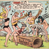 Archie Comics Retro: The Archies Comic Panel; The Prehistoric Archies (Aged) Prints