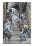 In the Villages the Sick Were Brought Unto Him, Illustration for 'The Life of Christ', C.1886-94 Giclée-vedos tekijänä James Tissot