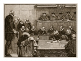 Sir Walter Raleigh before the Judges, Illustration from 'Cassell's Illustrated History of England' Giclee Print by  English School