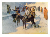 Zebulon Pike Entering Santa Fe, Illustration Published in 'Collier's Weekly', 1906 Giclee Print by Frederic Sackrider Remington