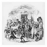 The Internal Economy of Dotheboys Hall, Illustration from `Nicholas Nickleby' by Charles Dickens Reproduction procédé giclée par Hablot Knight Browne
