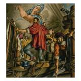 Michelangelo Buonarrotti Painting the Sistine Chapel Reproduction procédé giclée par Jack Hayes