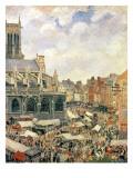 The Market Surrounding the Church of Saint-Jacques, Dieppe, 1901 Reproduction procédé giclée par Camille Pissarro
