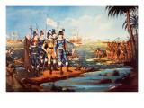 The Landing of Christopher Columbus in the New World Giclee Print by Frederick Kemmelmeyer