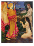 The Angel Offering the Fruits of the Garden of Eden to Adam and Eve Giclee Print by John Byam Shaw