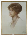 Portrait of Mrs. William J. Stillman, Bust Length, 1869 Giclee-trykk av Dante Gabriel Rossetti