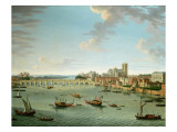 The Thames from the Terrace of Somerset House Looking Towards Westminster Giclée-tryk af Antonio Joli
