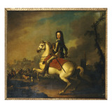 Portrait of King William Iii at the Battle of the Boyne in 1690 Giclee Print by Jan Wyck