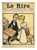 The Day before the Wedding, Cartoon from the Cover of 'Le Rire', 26th August 1899 Giclee Print by Emmanuel Poire Caran D'ache