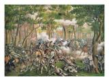 Battle of the Wilderness, May 1864, Engraved by Kurz and Allison, 1887 Gicléedruk van  American School