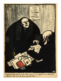 A Guilty Suspect Tries to Raise a Question of Police Procedure Giclee Print by Félix Vallotton