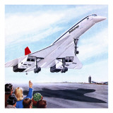 Concorde Landing in New York on 22 November 1977 Giclee Print by John Keay