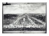 Perspective View of the Garden of Vaux-Le-Vicomte Reproduction procédé giclée par Israel, The Younger Silvestre