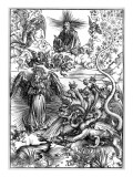 The Apocalyptic Woman or the Woman Clothed with the Sun and the Seven-Headed Dragon Giclée-Druck von Albrecht Dürer