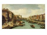 The Grand Canal Near the Rialto Bridge, Venice, C.1730 Reproduction procédé giclée par  Canaletto
