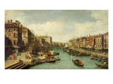 The Grand Canal Near the Rialto Bridge, Venice, C.1730 Impressão giclée por  Canaletto