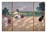 The Public Gardens: the Nurses, the Conversation and the Red Umbrella, 1894 Reproduction procédé giclée par Edouard Vuillard