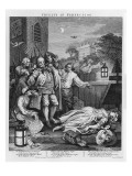 """Cruelty in Perfection, from """"The Four Stages of Cruelty"""", 1751 Giclee Print by William Hogarth"""