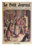 Making Pancakes, Illustration from 'Le Petit Journal', 26th February 1911 Reproduction procédé giclée par  English School