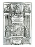 Frontispiece to 'Quattro Libri Dell'Architettura' by Andrea Palladio, 1570 Giclée-tryk af  Italian School
